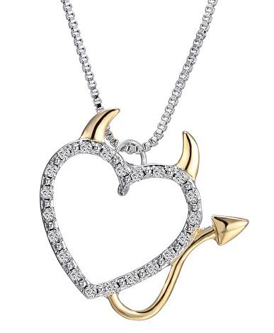 Symbol Devil heart necklace