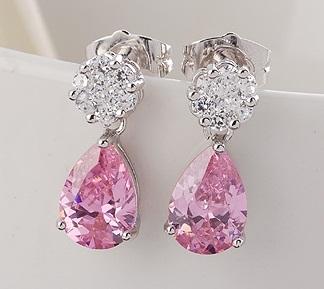Tear Drop Pink Earring