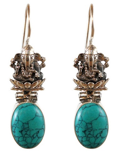 Temple Jewellery Turquoise Earring