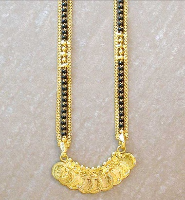 Temple coin mangalsutra