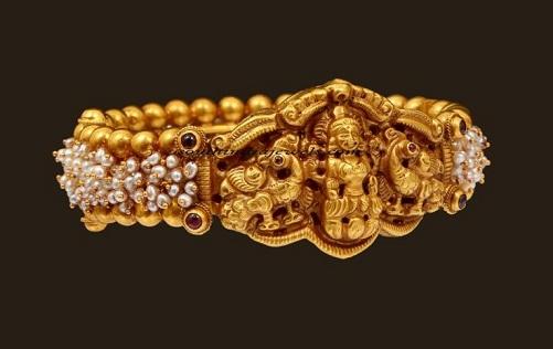 Temple jewelry gold plated Kada