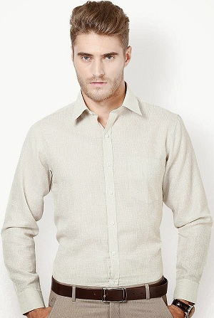 Terry cotton formal shirt