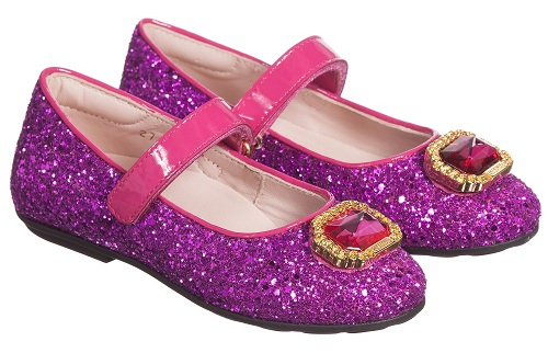 The glittery shoes