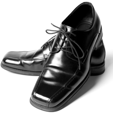 The glossy men shoes