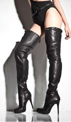 The knee length lady boots