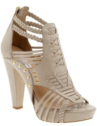 The plait designed womenshoe heels