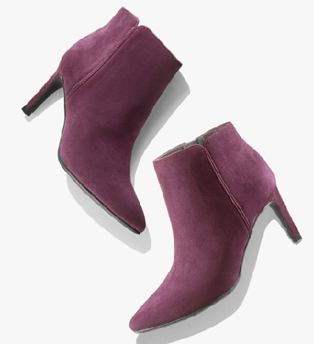The velvety purple womenboots Stylish to look at and classy to wear