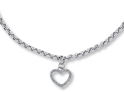 Thick chain heart anklet