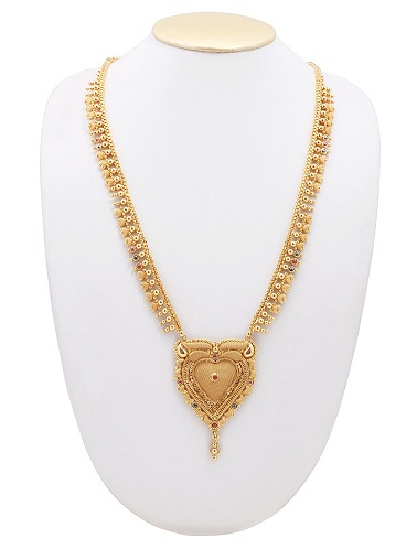 Thin attractive gold plated necklace