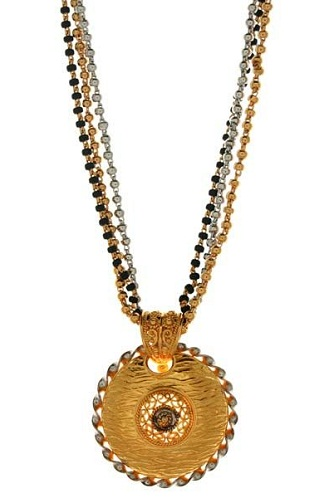 Thin long mangalsutra with the locket