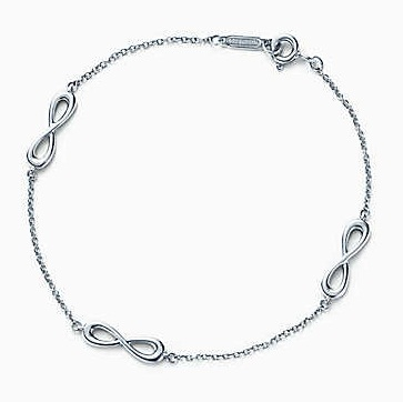 Thin platinum bracelet with infinity symbol for Women