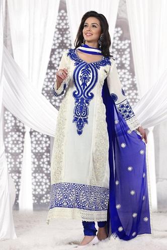 Thread Work Stitched Salwar Suit