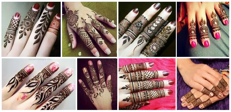 finger mehandi designs