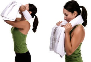 Towel Pulls Exercise for Burn neck Fat