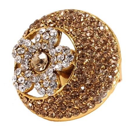 Traditional gold plated women's ring