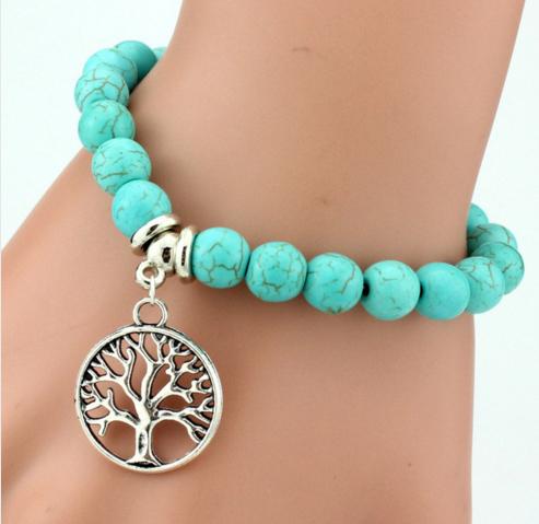 Tree life charm bracelet