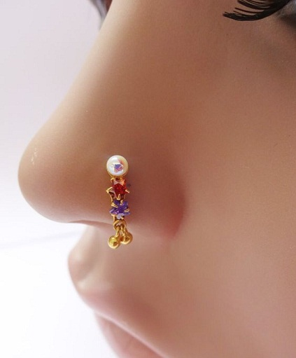 Trendy Style Pearl Nose Pin