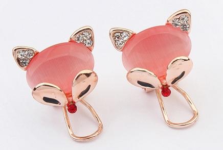 Trendy clip on earrings