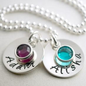 Two name custom pendants