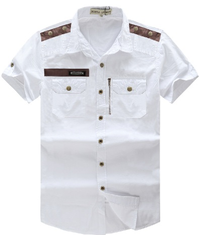 Two pocket white shirt