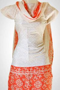 Unstitched Silk type Salwar Suit