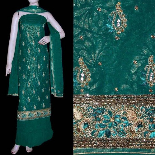 Unstitched ZariSalwar Suit