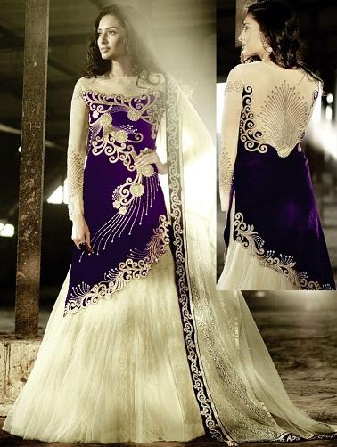 Velvet Salwar Kameez Skirt