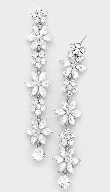 Vine drop earrings
