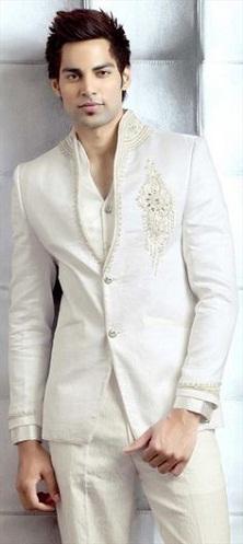 White Designer Blazer-9