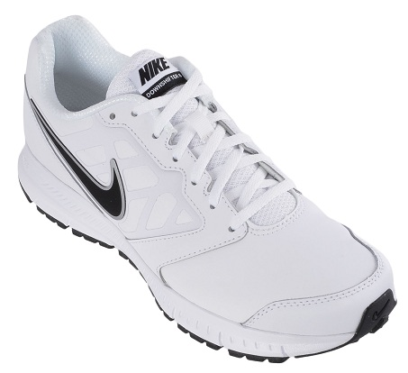 White Downshifter Men's Running Shoes