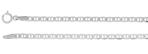 White Gold Anchor Chain