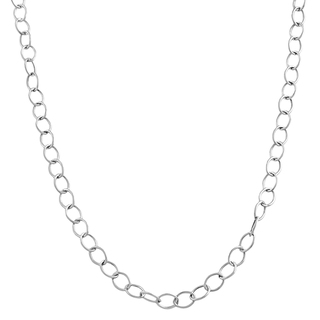 White Gold Rolo Chain