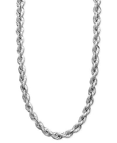 White Gold Rope Chain