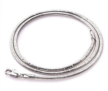 White Gold Snake Chain