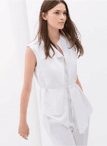 White Vest with Belt