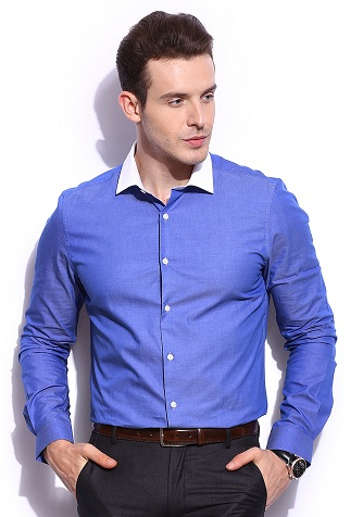 White collar formal shirt