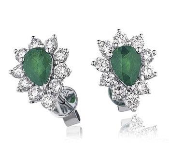 White gold Gemstone earrings
