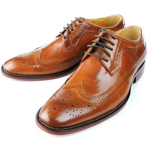 Wing tip formal men's shoes 28