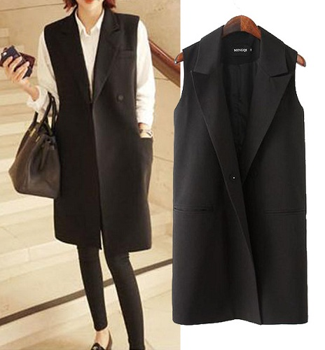 Women sleeveless suit vest