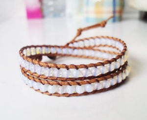 Wrap Oval Leather Handmade Anklets