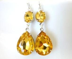 Yellow Topaz Birthstone Earring