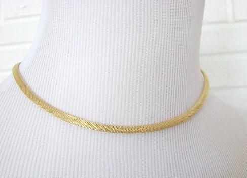 Yellow gold Italian mesh chain