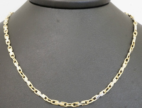 Yellow gold link and bar chain