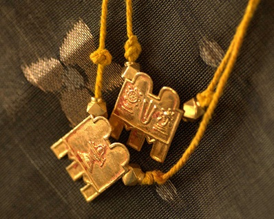 Yellow thread with Goddess Symbol Pendant Thirumangalyam