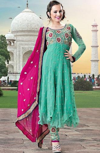 Zari Embroidery Salwar Suit