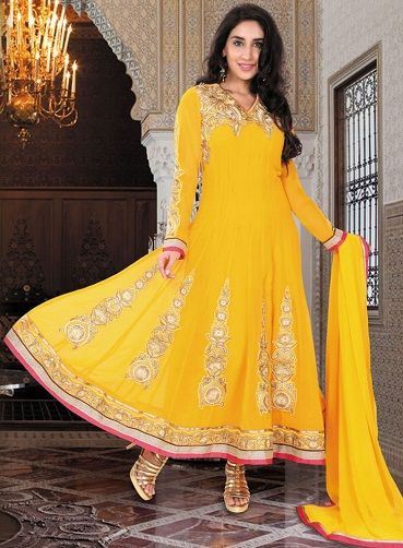 Zari Work Anarkali Suit