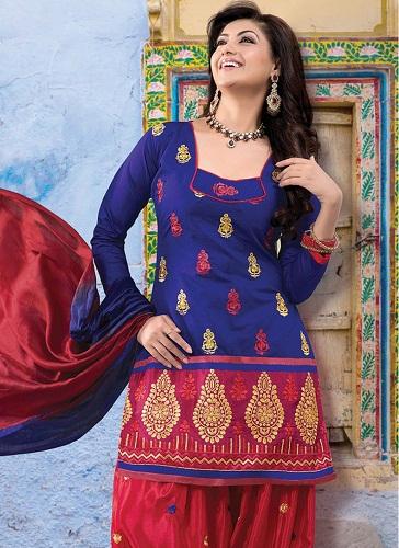 Zari Work Punjabi Salwar Suit
