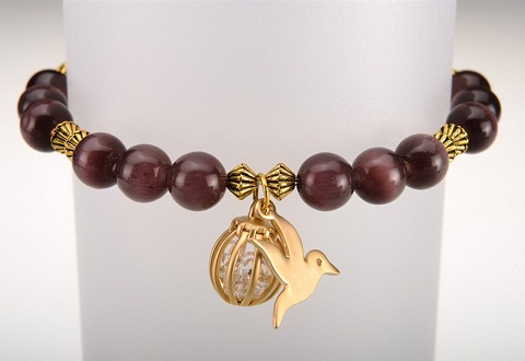 dove charm bracelet