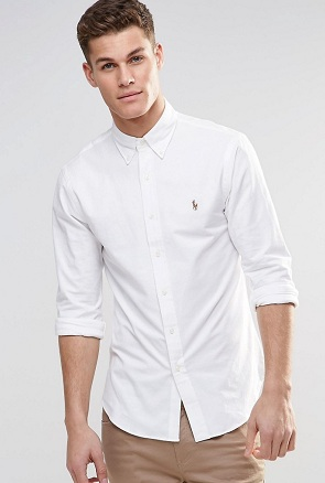 full sleeves white shirt
