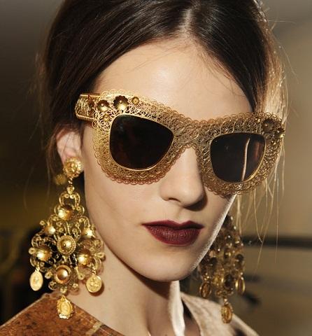 golden designer Women's sunglass -6